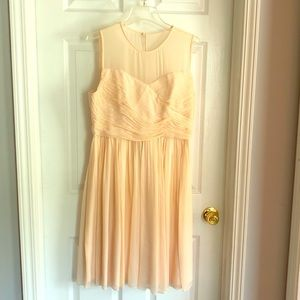 J Crew Peach Clara Bridesmaid dress sweetheart